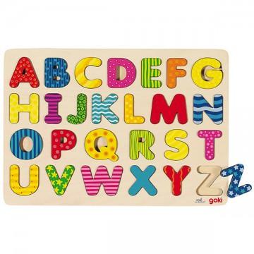 Puzzle en bois à encastrer alphabet 26 pièces