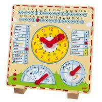 Horloge - Calendrier en bois pour enfant