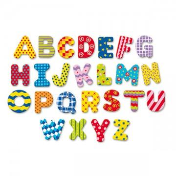 Super Magnets Alphabet 56 lettres majuscules en coffret bois, Jeux éducatifs QS15