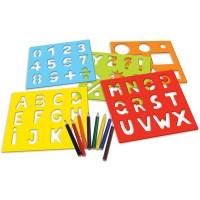 Créakit ABC pochoirs chiffres et lettres