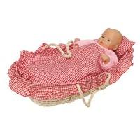 Couffin pour poupées avec linge de lit