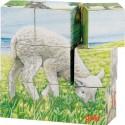 Puzzle de cubes animaux de la ferme, 9 cubes