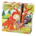 Puzzle cubes les contes en bois, 9 cubes