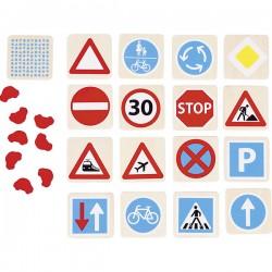 Mémo les panneaux de signalisation 48 pièces