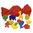 Mémo tactile des formes, 12 formes différentes