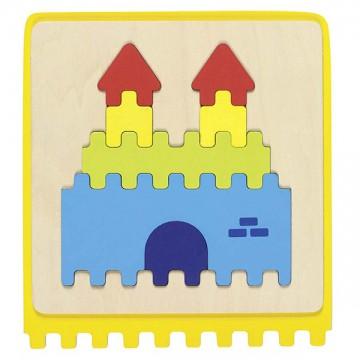 Puzzle tactile, 22 pièces, sac en coton