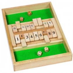 Double jeu-Shut the Box en bois