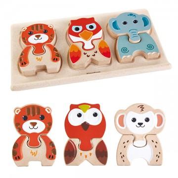 Puzzles animaux en bois
