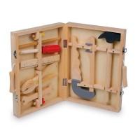 Boîte à outils avec 8 outils en bois