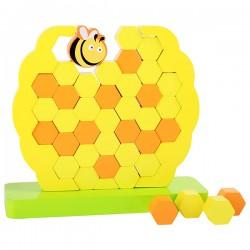 Jeu tour vacillante Ruche d'abeilles