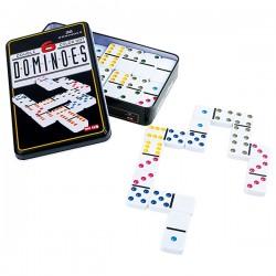 Jeu de domino avec six couleurs