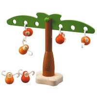 Singes équilibrants en bois