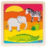 Puzzle en Afrique 5 pièces