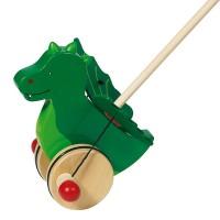 Animal à pousser dragon en bois