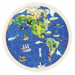 Puzzle double face globe terrestre