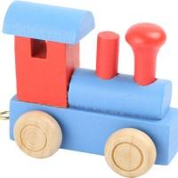 Train de lettres Locomotive rouge et bleu