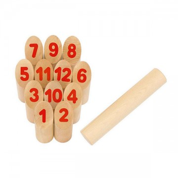 Number kubb jeu de molky