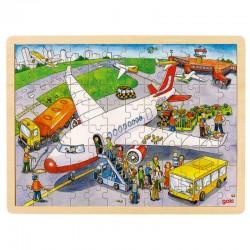 Puzzle en bois à l'aéroport, 96 psc Goki