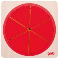 Puzzle circulaire, 6 couches, 21 psc en bois