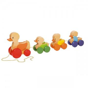 Famille de canards à tirer ailes mobiles