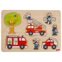 Puzzle à encastrement Intervention des Pompiers 7 psc
