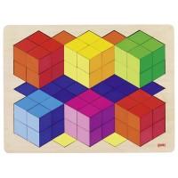 Puzzle effet 3D en bois, 86 psc en bois