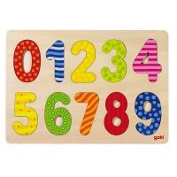 Puzzle de chiffres 0-9 en bois