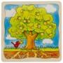 Puzzle à 4 couches,arbre, 44 pièces