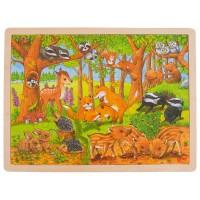 Puzzle bébés animaux dans la forêt 48 psc