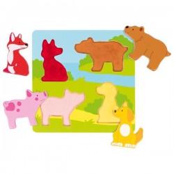 Puzzle Tactile Les animaux